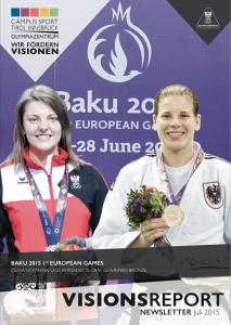 VISIONSREPORT Juli 2015 - Olympiazentrum Tirol