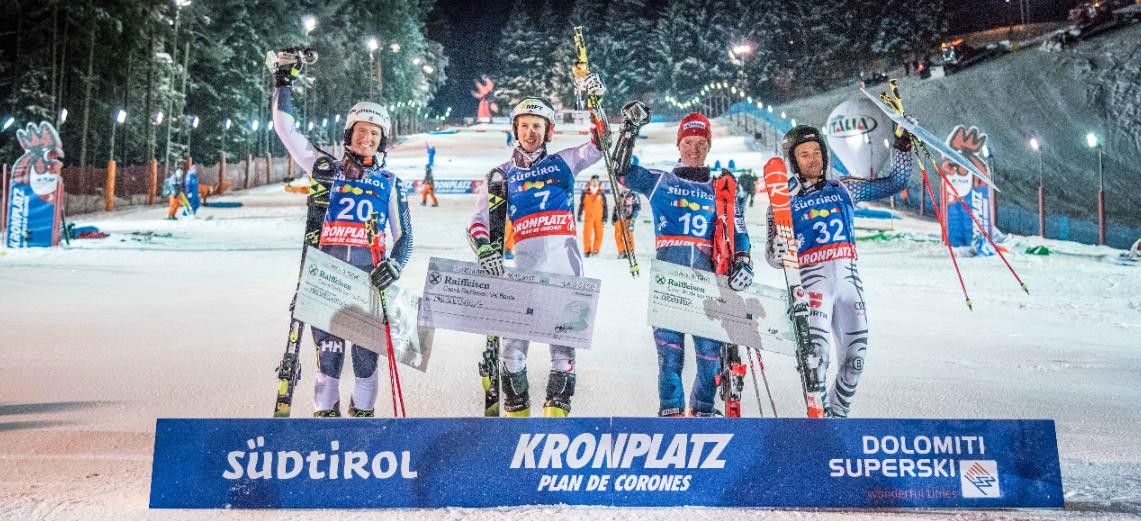 Dominik Raschner gewinnt EC-Parallel-Riesenslalom am Kronplatz