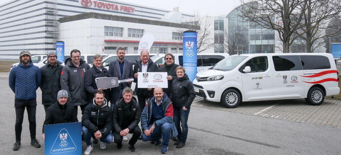 Toyota Frey Austria macht die Olympiazentren mobil