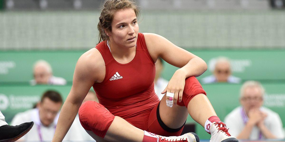 BAKU,AZERBAIJAN,15.JUN.15 - European Games Baku, Wrestling-69kg. Image shows Martina Kuenz (AUT). Photo: GEPA pictures/ Martin Hoermandinger