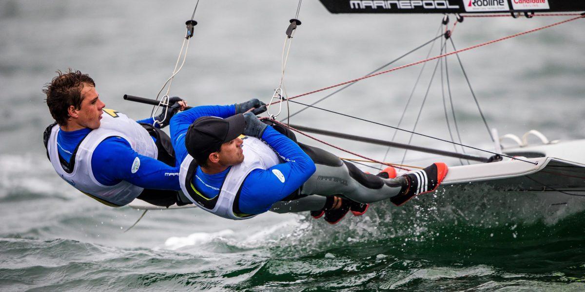 49er, 49erFX, Nacra 17 World Championships, Geelong , Australia 2020 © Jesus Renedo / Sailing Energy 15 February, 2020.