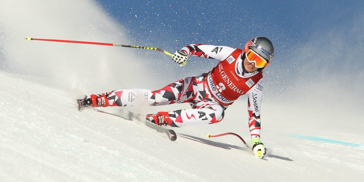 LAKE LOUISE,CANADA,04.DEC.15 - ALPINE SKIING - FIS World Cup, downhill, ladies. Image shows Stephanie Venier (AUT). Photo: GEPA pictures/ Mario Kneisl