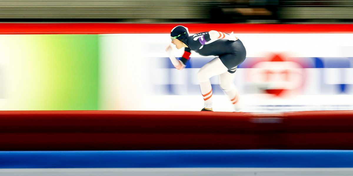 INZELL,GERMANY,05.DEC.15 - SPEED SKATING - ISU World Cup, 1000m Ladies. Image shows a feature with Vanessa Bittner (AUT). Photo: GEPA pictures/ Felix Roittner