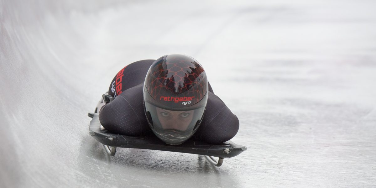 SANKT MORITZ,SWITZERLAND,04.FEB.16 - SKELETON - IBSF World Cup, European Championship, women, training. Image shows Janine Flock (AUT). Photo: GEPA pictures/ EQ Images/ Giancarlo Cattaneo - ATTENTION - COPYRIGHT FOR AUSTRIAN CLIENTS ONLY