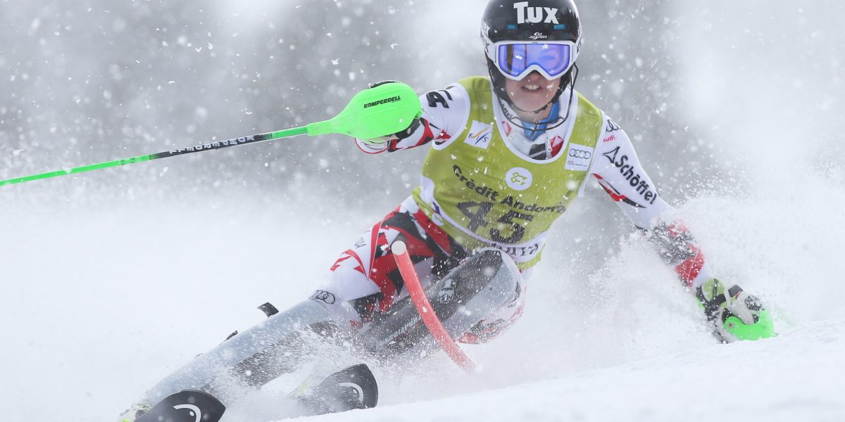 SOLDEU,ANDORRA,28.FEB.16 - ALPINE SKIING - FIS World Cup, Alpine combined, Super G, ladies. Image shows Stephanie Brunner (AUT). Photo: GEPA pictures/ Wolfgang Grebien