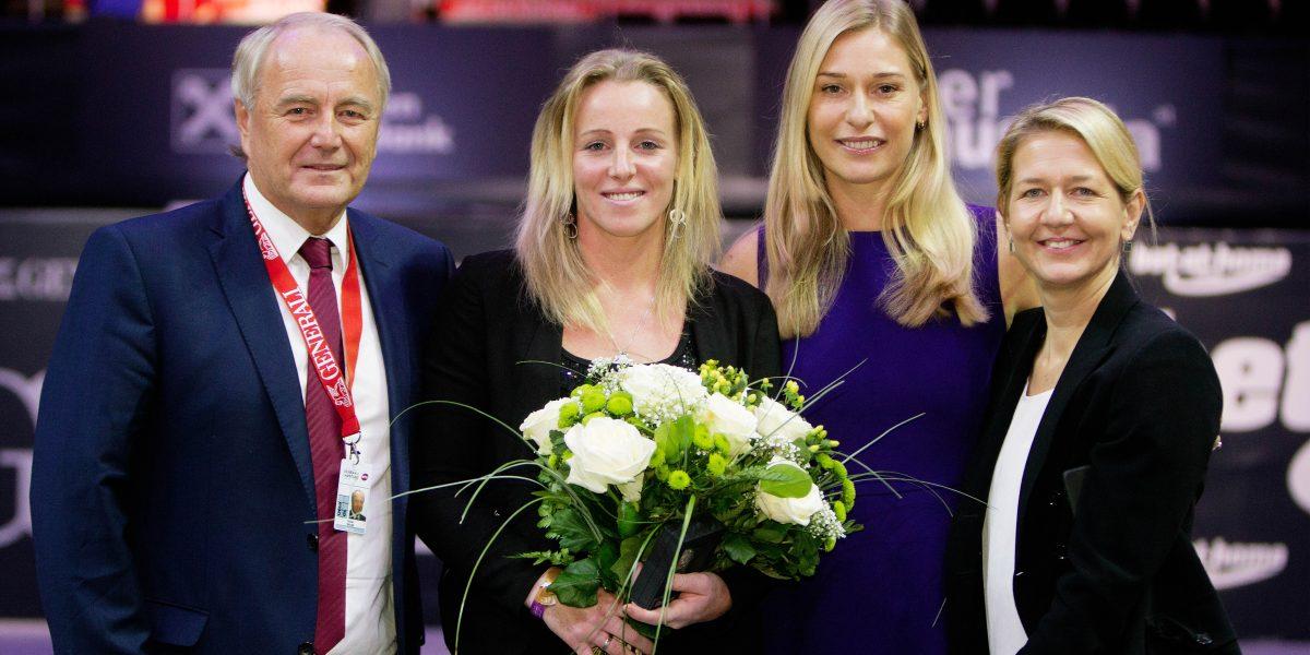 Robert Gross (OÖTV), Patricia Mayr-Achleitner (AUT), Barbara Schett-Eagle und Sandra Reichel. Photo: GEPA pictures/ Matthias Hauer