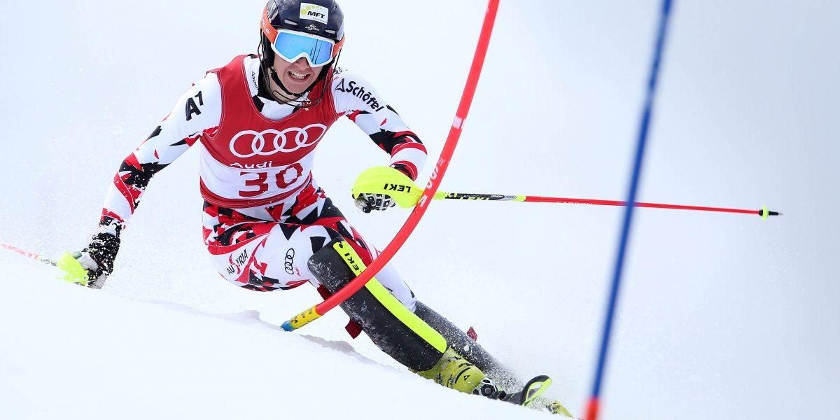 PASS THURN,AUSTRIA,15.NOV.15 - ALPINE SKIING - FIS Slalom, men. Image shows Dominik Rascher (AUT). Photo: GEPA pictures/ Harald Steiner