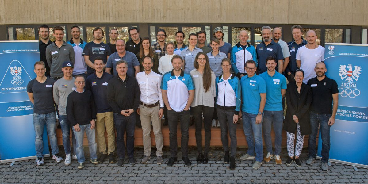 INNSBRUCK,AUSTRIA,28.FEB.19 - OLYMPICS - OEOC, Workshop Olympiazentren. Image shows participators. Photo: GEPA pictures/ Hans Osterauer