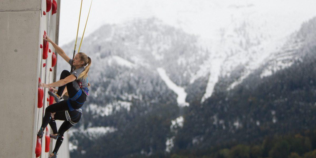 INNSBRUCK,AUSTRIA,26.SEP.20 - CLIMBING - Austria Climbing Summer Series 2020, Austria Championships, Olympic Combined. Image shows Jessica Pilz (AUT). Photo: GEPA pictures/ KVOE/ Moritz Liebhaber