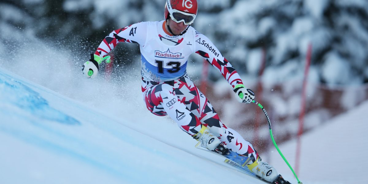SCHLADMING,AUSTRIA,15.JAN.16 - ALPINE SKIING -  FIS European Cup, Reiteralm, Super G, men. Image shows Clemens Nocker (AUT). Photo: GEPA pictures/ Harald Steiner
