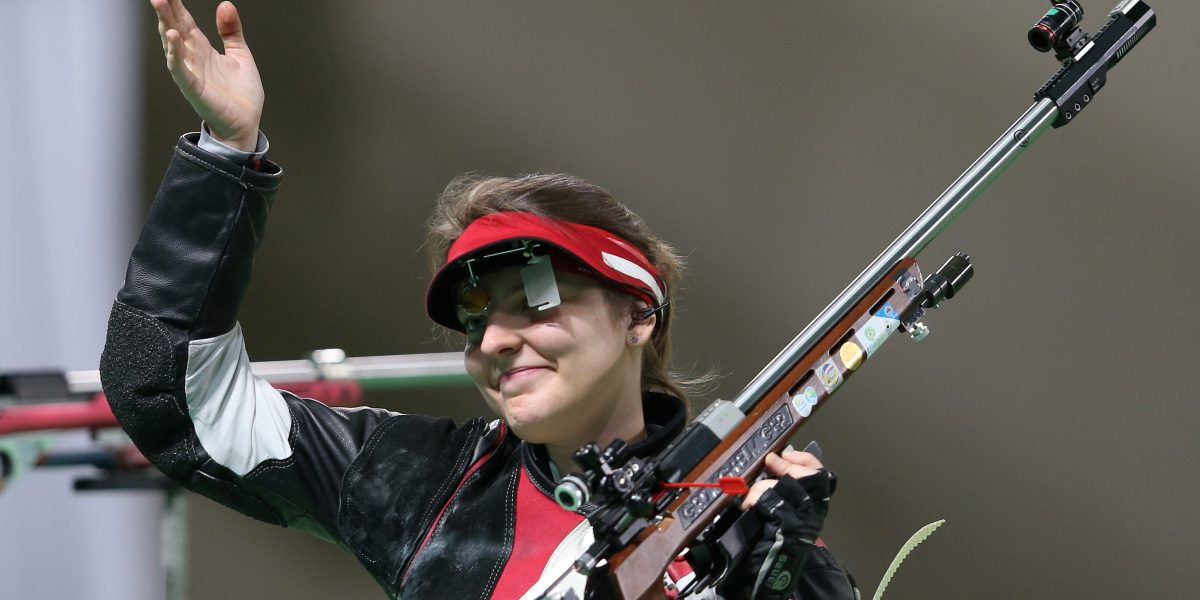 RIO DE JANEIRO,BRAZIL,11.AUG.16 - OLYMPICS, SHOOTING - Olympic Summer Games Rio 2016, Final 50m Rifle 3 Positions women. Image shows Olivia Hofmann (AUT). Photo: GEPA pictures/ Harald Steiner