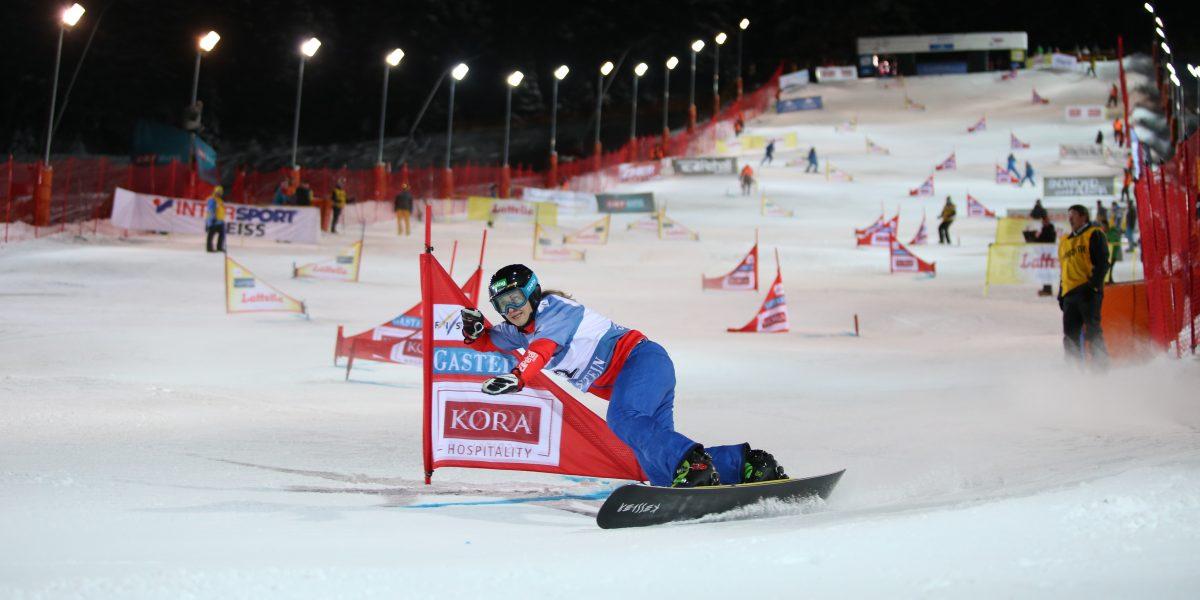 BAD GASTEIN,AUSTRIA,10.JAN.17 - SNOWBOARD - FIS World Cup, parallel slalom, ladies. Image shows Sabine Schoeffmann (AUT). Photo: GEPA pictures/ Mathias Mandl