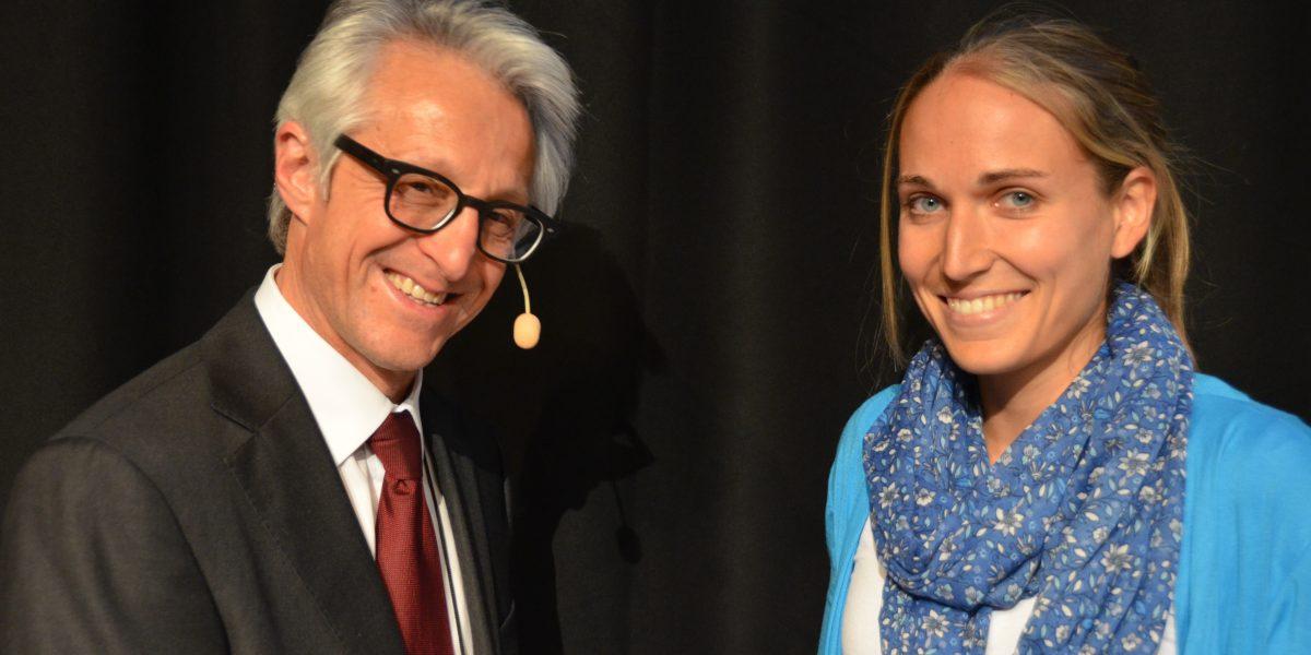 Lisa mit ECSS Präsident