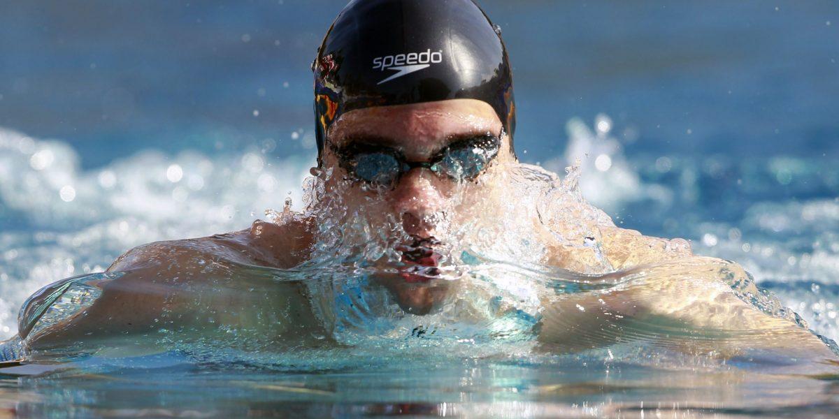 SANKT POELTEN,AUSTRIA,03.AUG.14 - SWIMMING - Austrian Championships, 50m breaststroke men. Image shows Bernhard Reitshammer (AUT). Photo: GEPA pictures/ Josef Bollwein