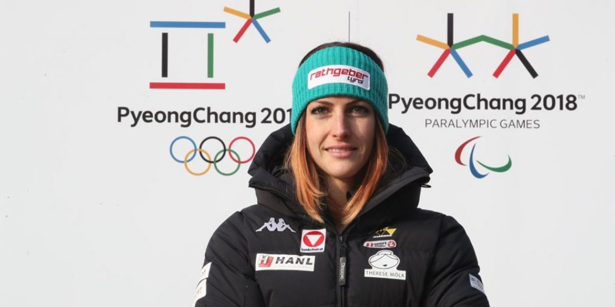 PYEONGCHANG,SOUTH KOREA,04.MAR.17 - SKELETON - Photo shooting with Janine Flock. Image shows Janine Flock (AUT). Keywords: Olympic Winter Games, Pyeongchang 2018 preview, logo. Photo: GEPA pictures/ Andreas Pranter